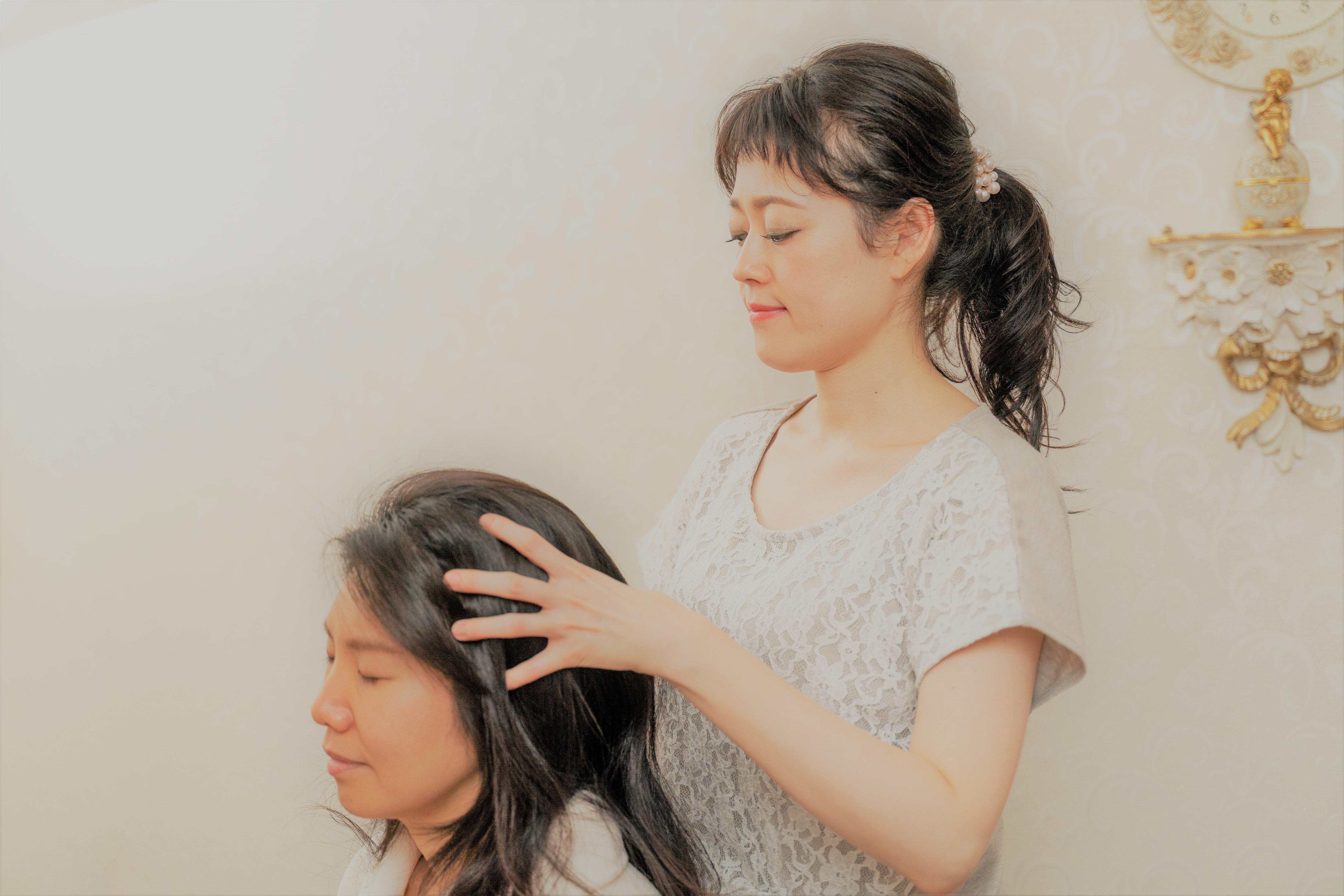 【ヘナ】ツヤ髪&ふわ髪&デトックス💜肩甲骨までのロング(Ⅰ)のイメージその2