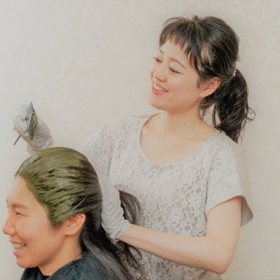 【ヘナ】ツヤ髪&ふわ髪&デトックス💜肩甲骨までのロング(Ⅰ)