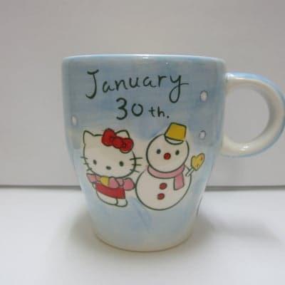 【在庫限り!!!】ハローキティ バースデーマグ 1月30日 みずがめ座