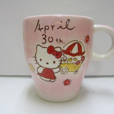 【在庫限り!!!】ハローキティ バースデーマグ 4月30日 おうし座