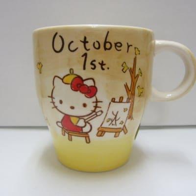 【在庫限り!!!】ハローキティ バースデーマグ 10月1日 てんびん座