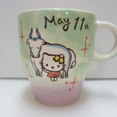 【在庫限り!!!】ハローキティ バースデーマグ 5月11日 おうし座(Taurus)