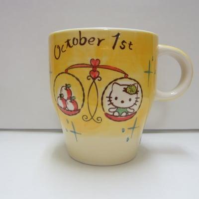 【在庫限り!!!】ハローキティ バースデーマグ 10月1日 てんびん座(Libra)