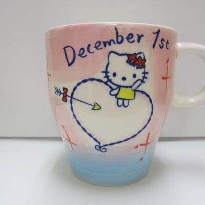 【在庫限り!!!】ハローキティ バースデーマグ 12月1日 いて座(Sagittarius)