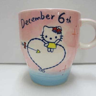 【在庫限り!!!】ハローキティ バースデーマグ 12月6日 いて座(Sagittarius)