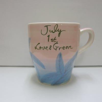 【在庫限り!!!】 LOVE & GREEN バースデーマグ 7月1日 かに座