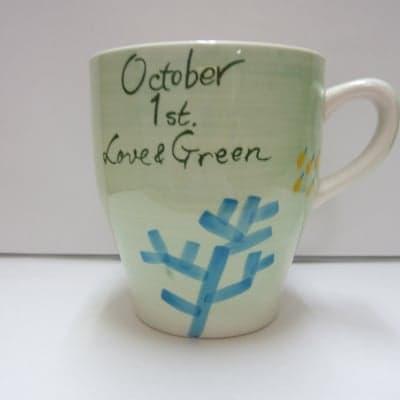 【在庫限り!!!】 LOVE & GREEN バースデーマグ 10月1日 てんびん座
