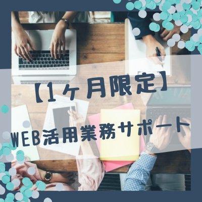 【1か月限定】ホームページ・WEB・ECサイト活用業務サポート