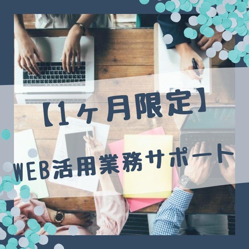 【1か月限定】ホームページ・WEB・ECサイト活用業務サポートのイメージその1