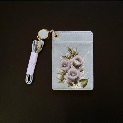 トールペイントのパスカードケース