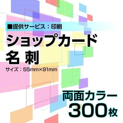 名刺・ショップカード印刷【データ支給】 片面カラー 300枚