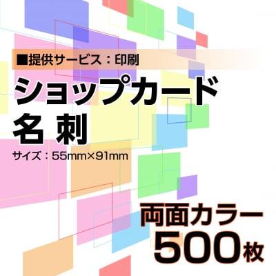 名刺・ショップカード印刷【データ支給】 両面カラー 500枚