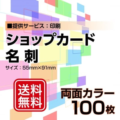 名刺・ショップカード印刷【データ支給】 両面カラー 100枚