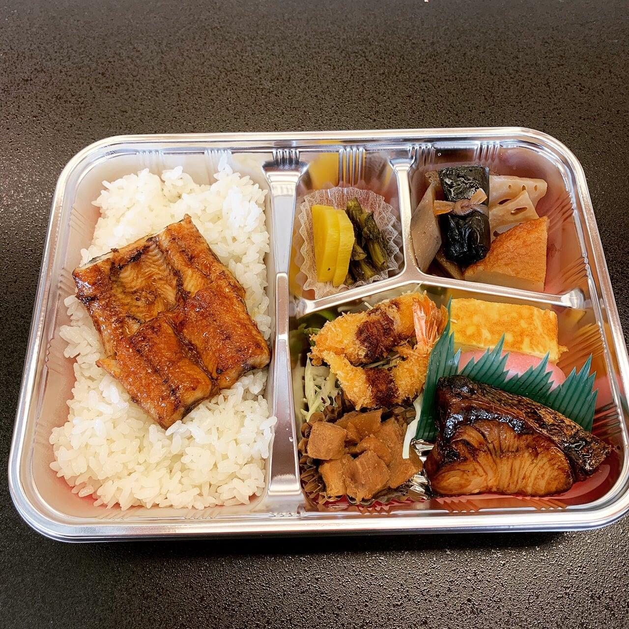 【テイクアウト・出前用】お弁当(うなぎ入り)・味噌汁付のイメージその1