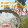 送料無料・魚沼産こしひかり20kg平成29年収穫・新潟県小千谷市真人地域産。