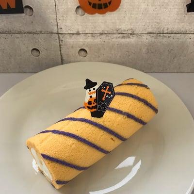 ハロウィン限定ミニロールケーキ(かぼちゃ)