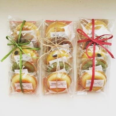 【グルテンフリー・乳製品不使用】ままがし焼きドーナツ5つの味わい詰め合わせセット (5種各1個入り)