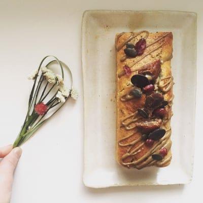 【グルテンフリー】米粉のデコレーションパウンドケーキ (約8cm×6cm×...