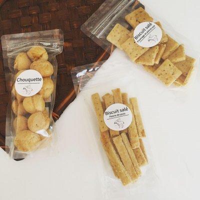 【グルテンフリー】米粉のおつまみおやつ 3種食べくらべセット (柚子胡椒クラッカー/おつまみシューケット/ザクザククラッカー)