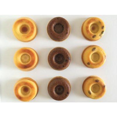 【グルテンフリー・乳製品不使用】ままがし焼きドーナツセット9個入り バニラ/チョコ/かぼちゃ