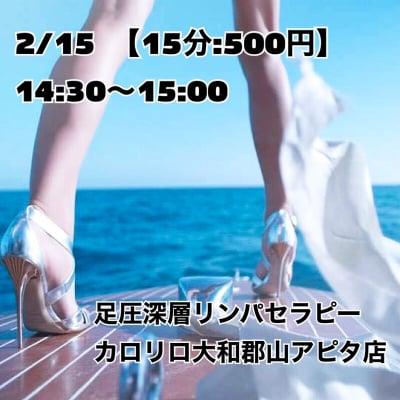 2/15(土)14:30~【カロリロ】HBL  足圧深層リンパセラピーイベントチケット
