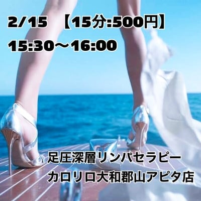 2/15(土)15:30~【カロリロ】HBL  足圧深層リンパセラピーイベントチケット