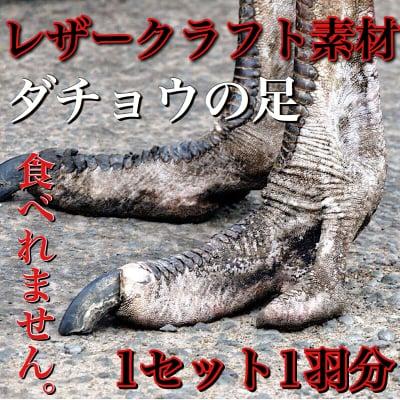 【食用ではありません】国産ダチョウ|ダチョウの脚(モミジ)2本セット