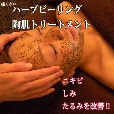 【痛くないハーブピーリング】ニキビ/シミ/たるみ/小顔にオススメ!!陶肌トリートメント