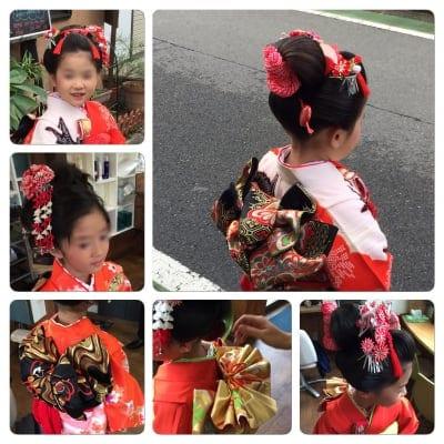 【七五三】 日本髪ヘアセット 伝統的な日本髪で神社で目立つ事NO1 現金決済のみ