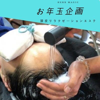 『お年玉企画!!高ポイント還元』頭皮リラクゼーションエステ(90分)  現地決済