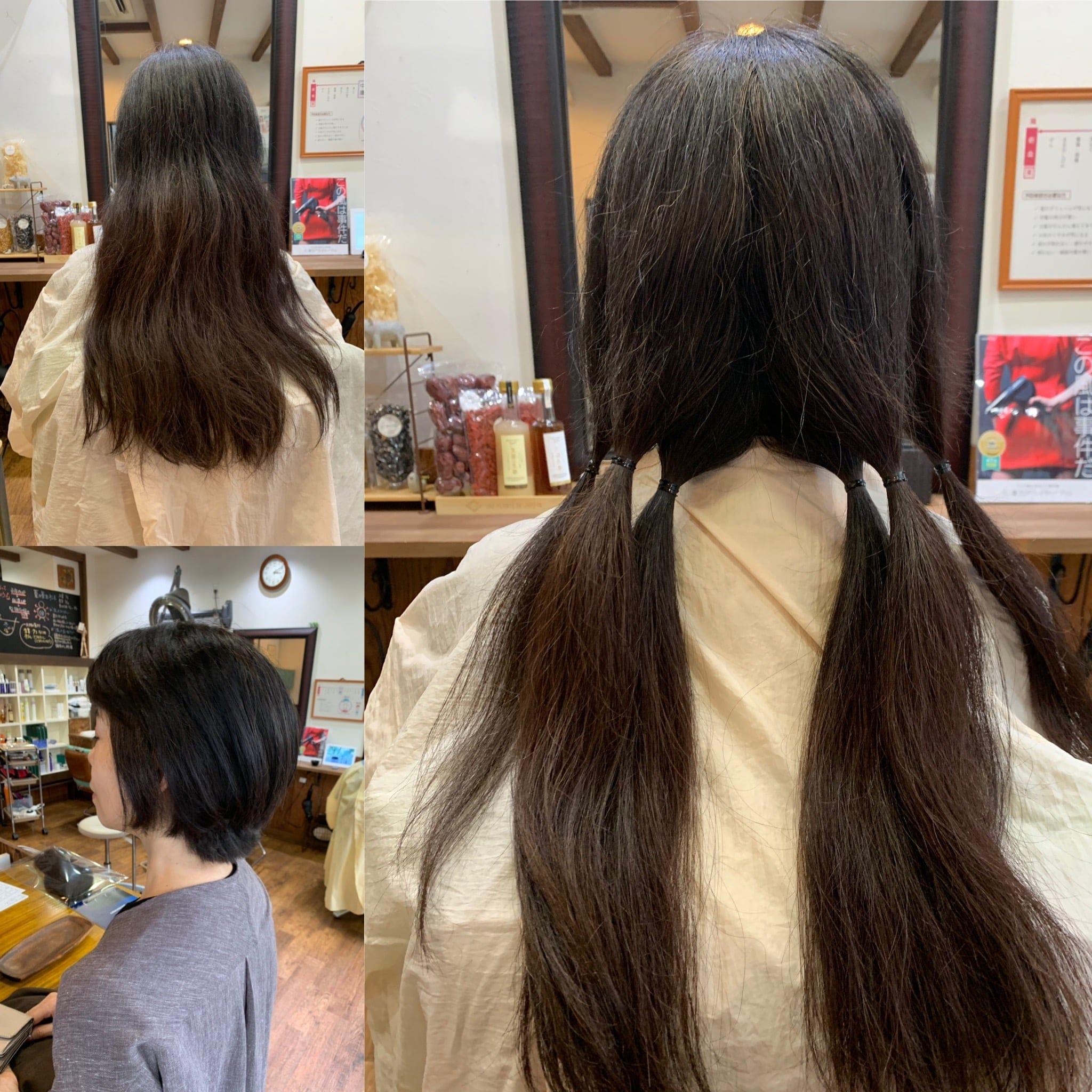 髪の寄付 ヘアドネーションカットのイメージその2