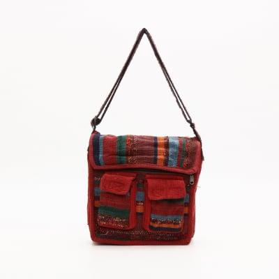 【送料無料】ネパールの手作りゲリコットンバッグ②