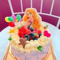 【全国発送可】ラプンツェル風デコレーションケーキ5号
