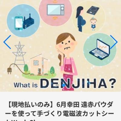 【現地払いのみ】6/29(土)PM 幸田 遠赤パウダーを使って手づくり電磁波カットシートWork Shop