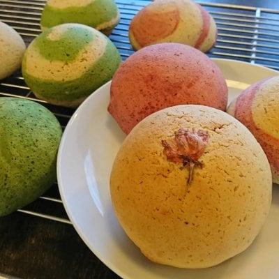 【幸田店】2021年2月ダーシェンカ体験パン教室「3種のメロンパン」「ハート型ブレット」