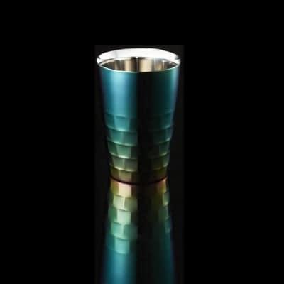 通販限定カラーモデル ユキワ タンブラーS トワイライトグリーン260(ml)<ユキワブランドが手掛けた堅牢で美しい二重構造ステンレスタンブラー。お酒を美味しく引き立てると共に、見た目にも綺麗なカラーは各種プレゼントに最適!>(ギフト包装・のし紙対応)