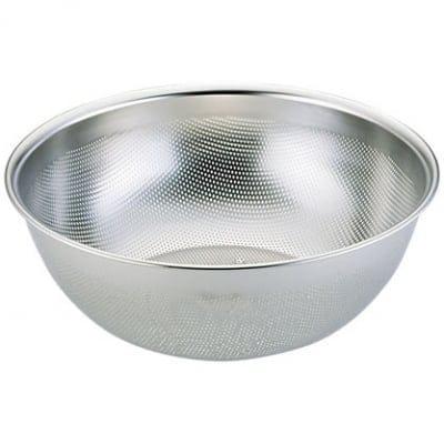 【ユキワキッチンボールシリーズ】深型パンチボール21cm<目詰まりしにくく、ほつれの心配が無いステンレスパンチング材は業務用で愛用される本格派キッチンウェア。組み合わせで用途が広がります。>