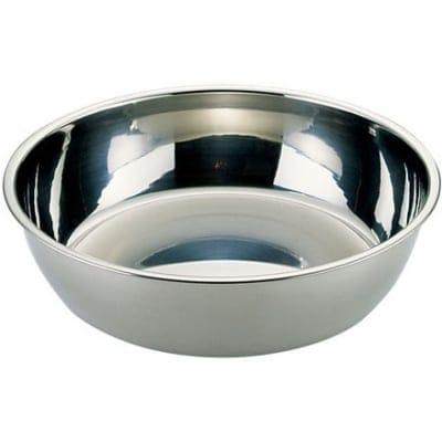 【ユキワキッチンボールシリーズ】 キッチンボール浅型21cm<ステンレス一体成型で手入れが楽で衛生的、かつ丈夫なステンレスボール。パンチングボールとの組み合わせで用途が広がります。>