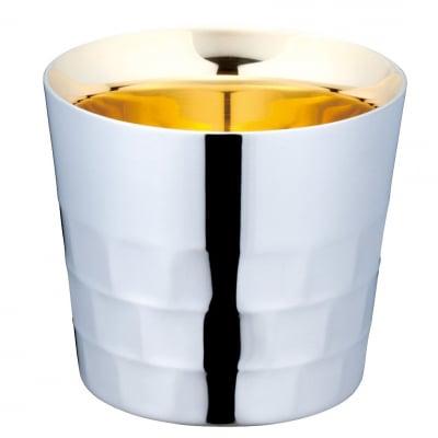 メイドイン燕の逸品 みがきマイスター 酒杯 120(ml)<ユキワブランドが手掛けた堅牢で美しい二重構造ステンレスタンブラー。お酒を美味しく引き立てると共に、見た目にも豪華な内面24金メッキ仕上げは慶事の贈答品にぴったり!>(ギフト包装・のし紙対応)