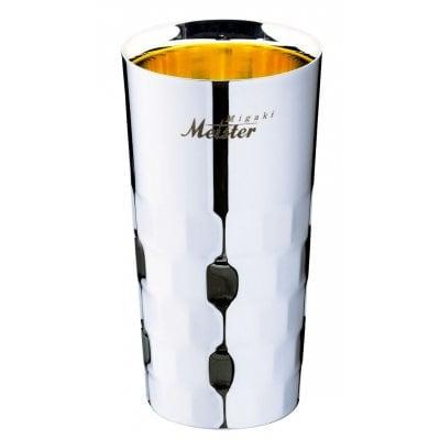 メイドイン燕の逸品 みがきマイスター コリンズ 400(ml)<ユキワブランドが手掛けた堅牢で美しい二重構造ステンレスタンブラー。お酒を美味しく引き立てると共に、見た目にも豪華な内面24金メッキ仕上げは慶事の贈答品にぴったり!>(ギフト包装・のし紙対応)