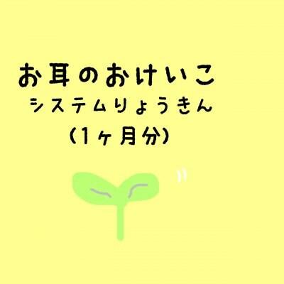 絶対音感システム利用料/月
