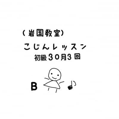 【岩国教室】初級30分個人レッスン月3回コースB