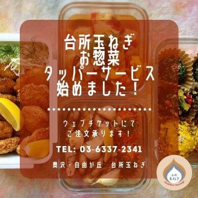【台所玉ねぎ】お惣菜タッパーサービス【3000円】