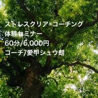 今、話題の ストレスクリア®コーチング体験セミナー 60分/5,000円