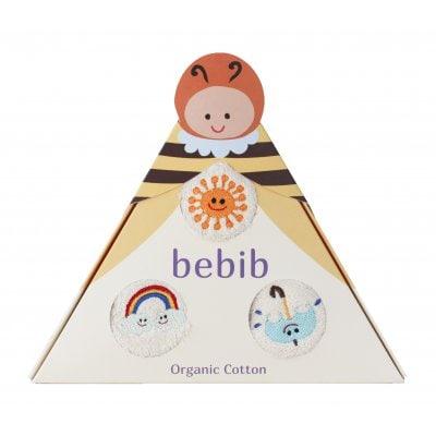 bebib-ベビブ-ハチ(刺繍:たいよう、かさ、にじ)