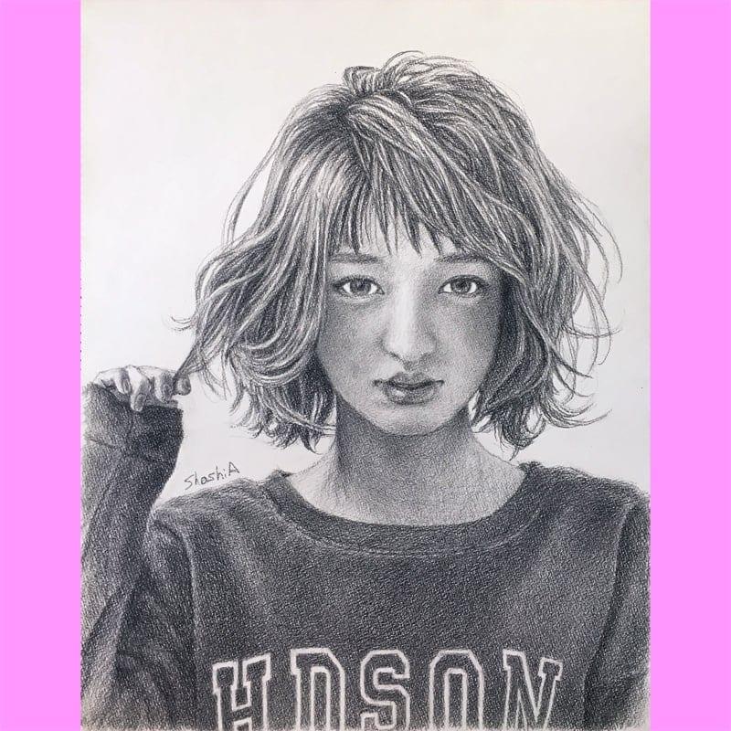 オリジナル 鉛筆画 ポートレートのイメージその1