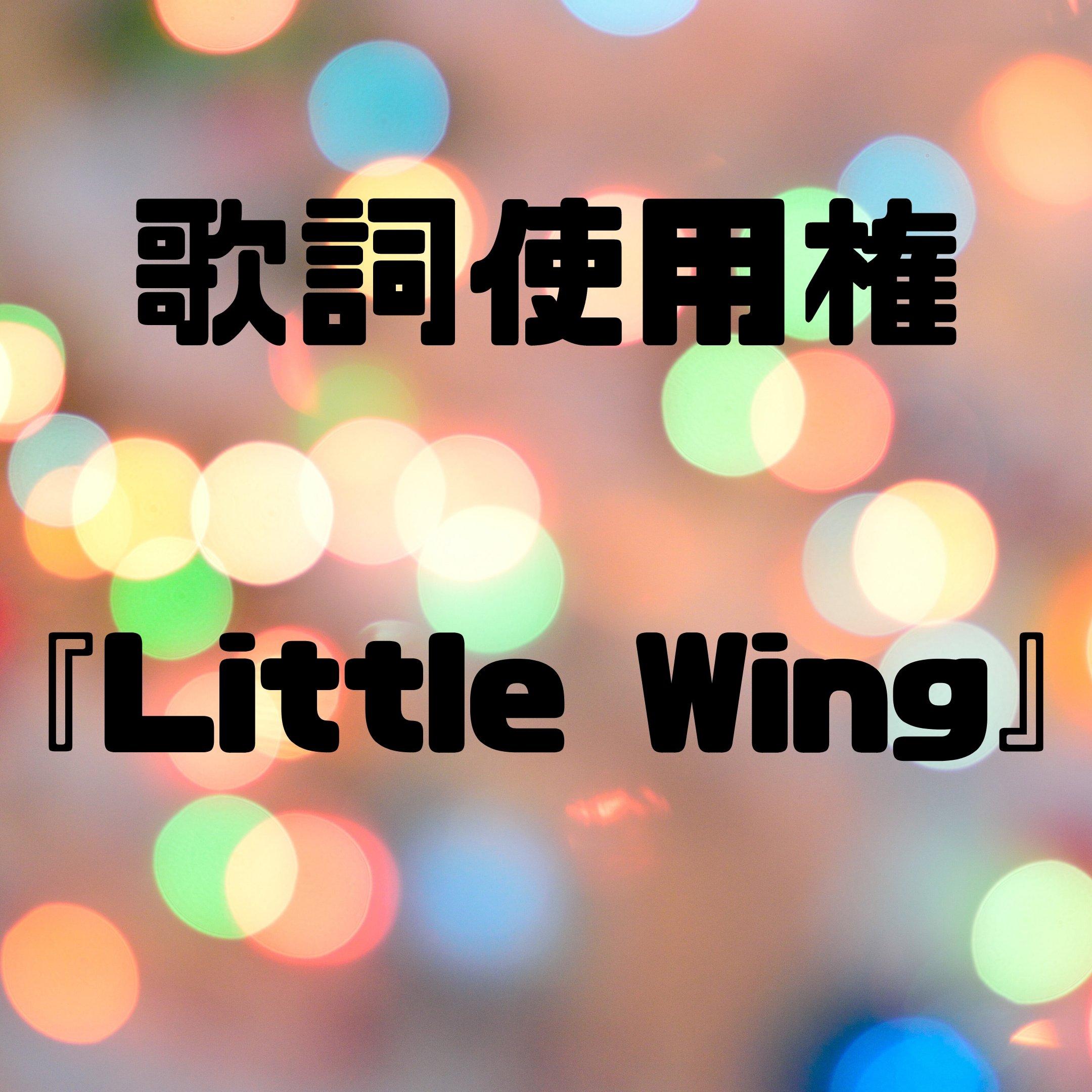 【歌詞使用権】Little Wingのイメージその1