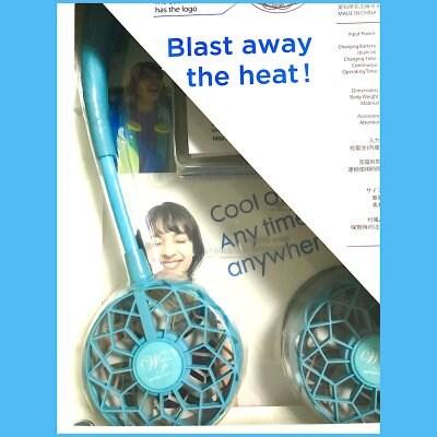 Hands-Free扇風機 W Fan ver.2.0 アクアブルー