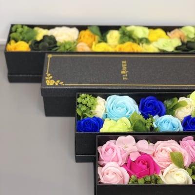 花|フレグランスソープフラワー|スリムボックス|プレゼント