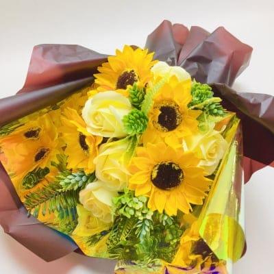 花|フレグランスソープフラワー|ひまわりブーケ